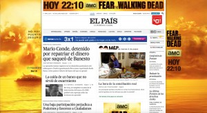 Publicidad digital de Fear the Walking Dead, temporada 2, en el País