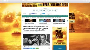 Publicidad digital de Fear the Walking Dead, temporada 2, en el Huffington Post ES