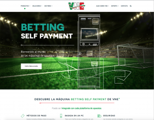 Máquina de apuestas Betting Self Payment para sector gaming de VNE