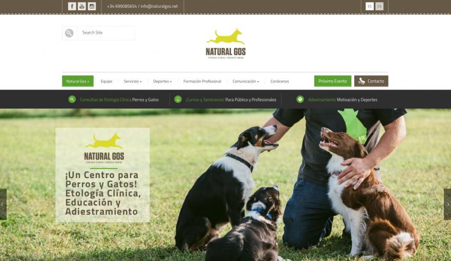 Desarrollo web para Natural Gos