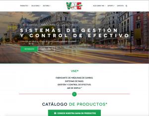 VNE España, máquinas de cambio y pago, sistemas de gestión y control de efectivo